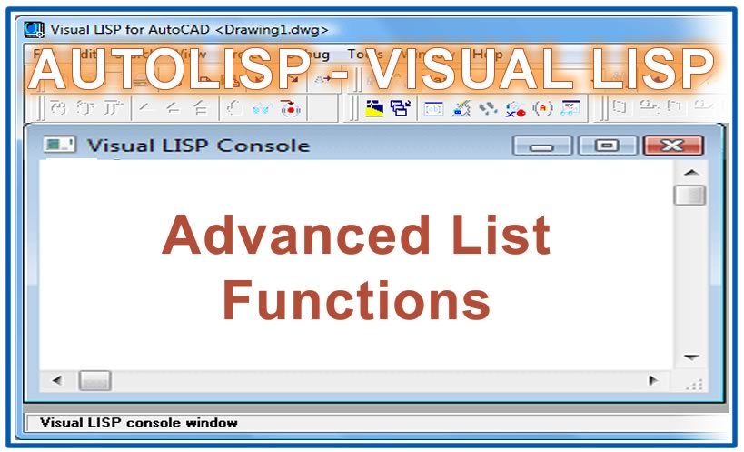 Photo of Advanced List Functions with autolisp in AutoCAD