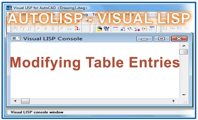 Photo of Modifying Table Entries with autolisp in AutoCAD
