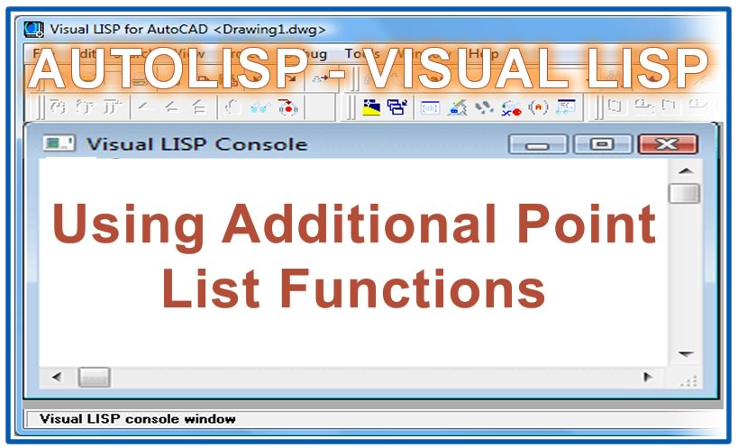 Photo of Using Additional Point List Functions with autolisp in AutoCAD