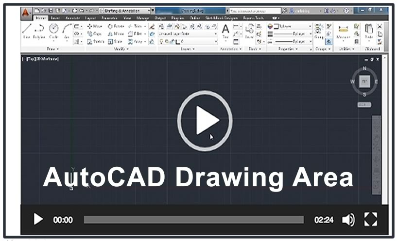 Photo of Video 5- AutoCAD Drawing Area
