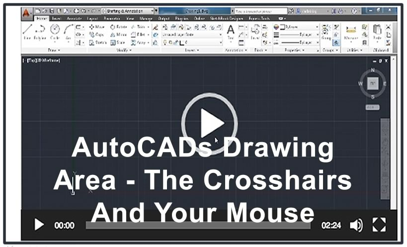 Photo of Video 7- AutoCADs Drawing Area – The Crosshairs And Your Mouse