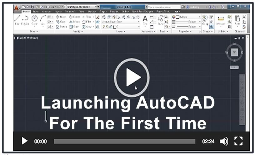 Photo of Video3 – Launching AutoCAD For The First Time